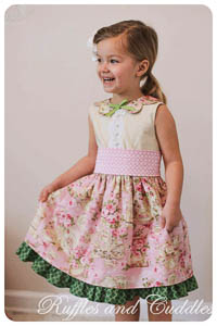 English Rose Dress PDF - Mandy K Designs - 12M thru 14 + Doll