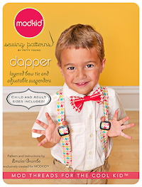"Dapper - Bow Tie & Adjustable Suspenders - ""Micro Mini"" - Modkid"