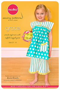 Grace - Smock-Style Tunic with Ruffled Cropped - Modkid (2T-10)