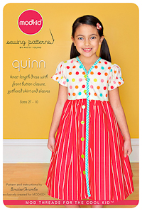 Quinn - Button Front Dress - Modkid (2T-10)