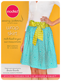 "Wrap Skirt - ""Micro Mini"" Pattern - Modkid - Women's size XS-L"