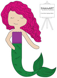 Molly Mermaid - PDF FMA Pattern - StitchART