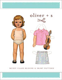 Music Class Blouse + Skirt - PDF Pattern - Oliver+S