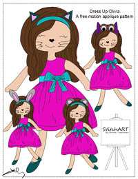 Olivia Loves Dress Up - PDF FMA Pattern - StitchART