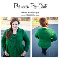 Provence Pea Coat PDF - Winter Wear Designs - Sizes XXS-XXXL