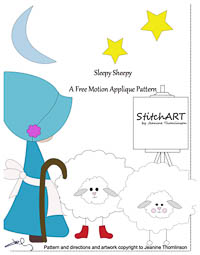 Sleepy Sheepy - PDF FMA Pattern - StitchART