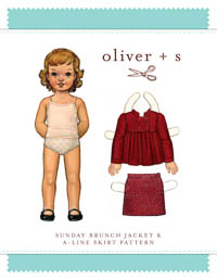 Sunday Brunch Jacket + Skirt - PDF Pattern - Oliver+S