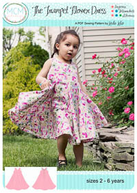 The Trumpet Flower Dress PDF Pattern - MCM Designs - Sizes 2-6