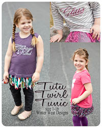 NEW Tutu Twirl Tunic PDF - Winter Wear Designs - Sizes 1 thru 16