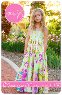 Bloomshine Maxi Dress PDF Pattern by Pink Fig - size 2T thru 10Y