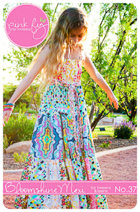 Bloomshine Maxi Tween PDF Pattern - Pink Fig - Sizes 8Y thru 16