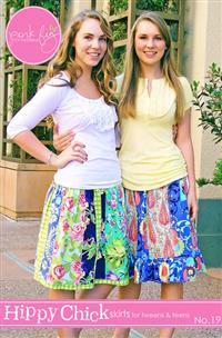 Hippy Chick Skirt PDF - Pink Fig - Sizes 10Y-16Y & Misses 2-8