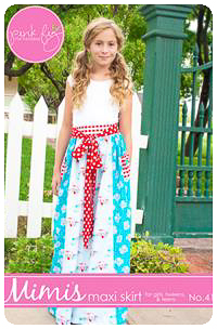 Mimi's Maxi Skirt PDF Pattern - Pink Fig - Sizes 2T thru 10Y