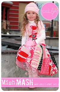 Mish Mash Skirt PDF Pattern - Pink Fig - Sizes 2T thru 12Y