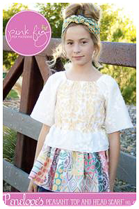 Penelope's Peasant Top PDF Pattern - Pink Fig - Sizes 2T thru 10