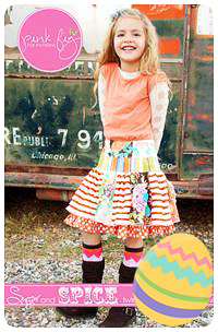 Sugar and Spice Skirt PDF Pattern - Pink Fig - Sizes 2T thru 12Y
