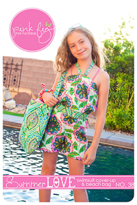 Summer Love Swim Cover & Bag PDF Pattern - Pink Fig - 2T to 10Y
