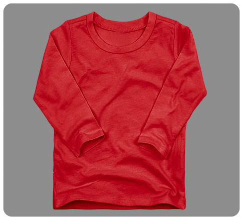 Size 6 months Red Basic Long Sleeved Tee