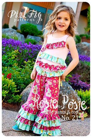 The Rosie Posie Pants by Pink Fig - size 6 mo thru 10 yrs