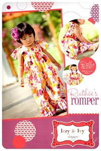 Ruthie's Romper - Doll Pattern - Izzy & Ivy (size 3 mo - 5T)