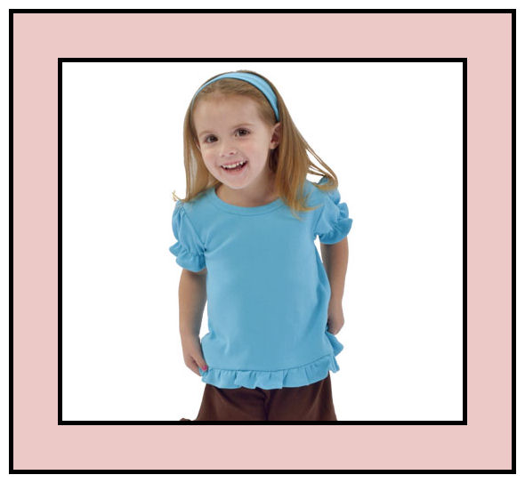 Size 3-6M Pink Short Sleeve Frill Tee