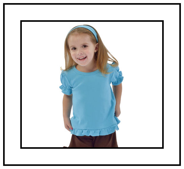 Size 3-6M White Short Sleeve Frill Tee