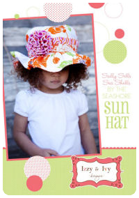 "Sally Sun Hat - Izzy & Ivy (size newborn - ladies small 22"")"