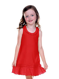 6M Red Ruffled Tank Dress - Cotton/Poly
