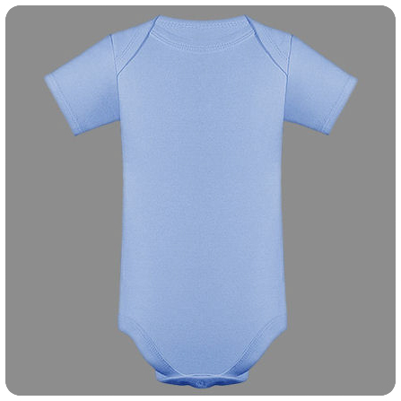 12M Blue Short Sleeved Lap Shoulder Baby Bodysuit