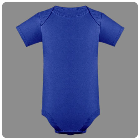 12M Cobalt Blue Short Sleeved Lap Shoulder Baby Bodysuit
