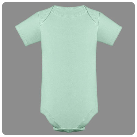12M Honeydew Short Sleeved Lap Shoulder Baby Bodysuit