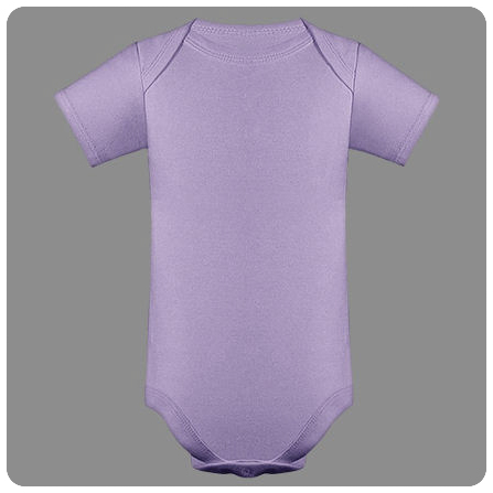 12M Lavender Short Sleeved Lap Shoulder Baby Bodysuit