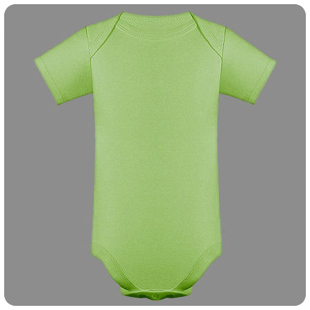 12M Lime Short Sleeved Lap Shoulder Baby Bodysuit