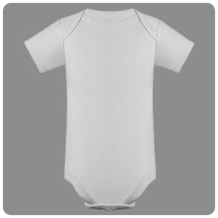 12M White Short Sleeved Lap Shoulder Baby Bodysuit