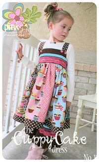 Cuppy Cake Dress PDF Pattern - Pink Fig - Sizes 12M thru 10Y
