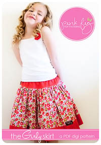 Girly Skirt PDF Pattern - Pink Fig - Sizes 6M thru 10Y