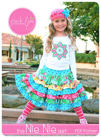 Nie Nie Skirt PDF Pattern - Pink Fig - Sizes 12M thru 12Y