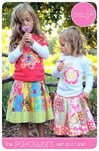 Patchwork Skirt PDF Pattern - Pink Fig - Sizes 6M thru 10Y