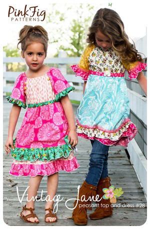 The Vintage Jane Peasant Top & Dress Pink Fig - 2T to 10 yrs