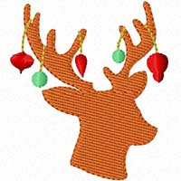Christmas Reindeer Silhouette Mini Fill - Whimsical Applique