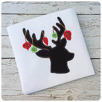 Christmas Reindeer Silhouette - Whimsical Applique