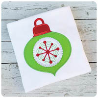 Winterland Christmas Ornament - Whimsical Applique