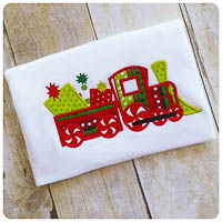 Winterland Christmas Train - Whimsical Applique