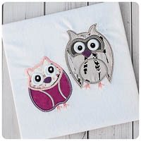 Wonderland Owl Pair - Whimsical Applique