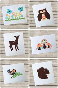 Woodland Collection - All 6 Designs - Whimsical Applique