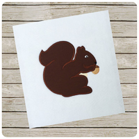 Woodland Squirrel - Whimsical Applique