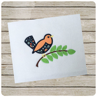 Woodland Bird - Whimsical Applique