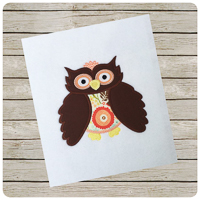 Woodland Owl - Whimsical Applique